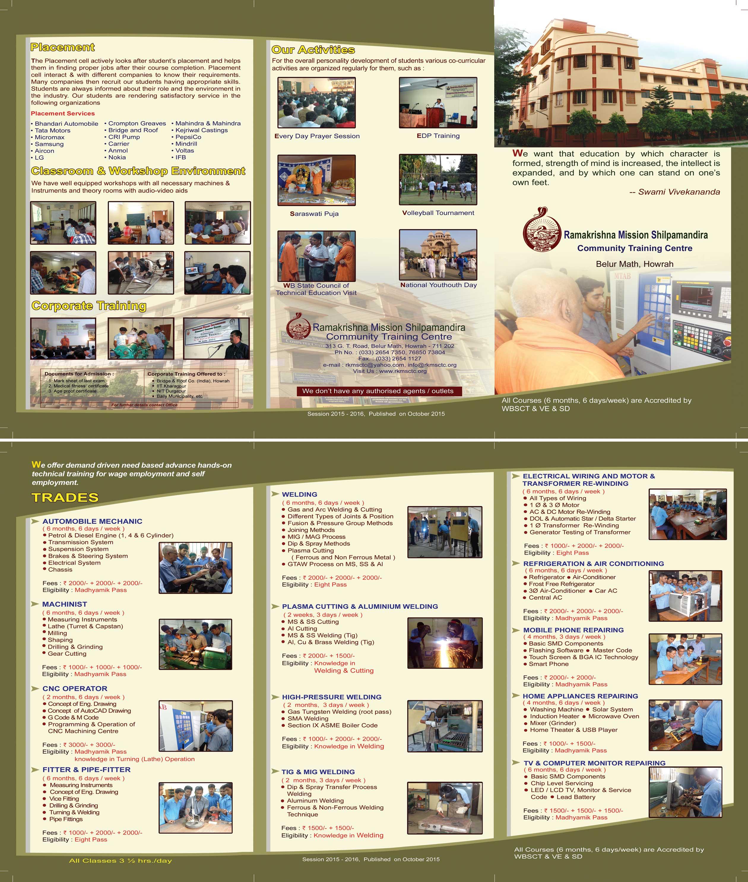 Ramakrishna Mission Shilpamandira Community Training Centre, Belur